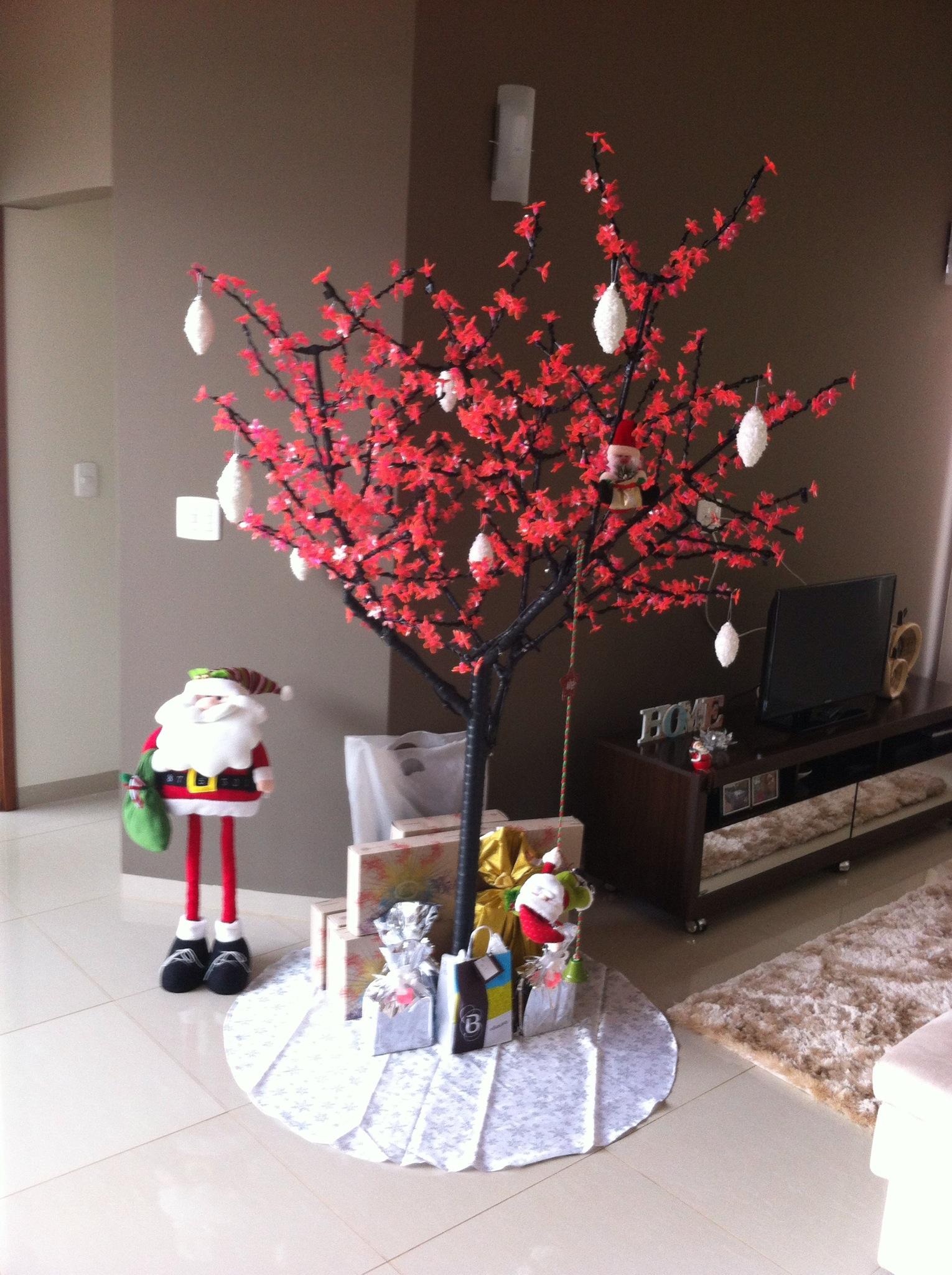 minha decora o de natal e rvore de led onde comprar. Black Bedroom Furniture Sets. Home Design Ideas